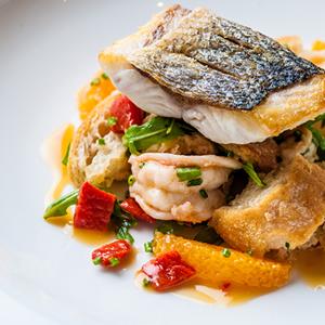 Fillet Of Sea Bass, Chilli & Garlic